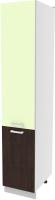 Шкаф-пенал кухонный Интерлиния Компо НШП-№2-2145 (салатовый/дуб венге) -