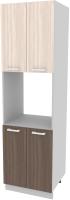 Шкаф-пенал кухонный Интерлиния Компо ПШД-№5-2145 (шимо светлый/шимо темный) -