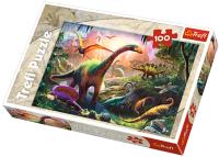 Пазл Trefl Земля динозавров / 16277 (100эл) -