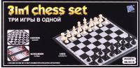 Набор игр Darvish Шахматы, шашки, нарды 3 в 1 / DV-T-2060 -
