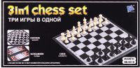 Набор игр Darvish Шахматы, шашки, нарды 3 в 1 / DV-T-2062 -
