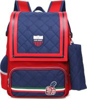 Школьный рюкзак Sun Eight SE-2697 (красный/темно-синий) -