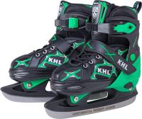Ролики-коньки KHL Switch M (р-р 35-38, зеленый) -