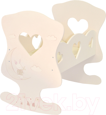Аксессуар для куклы Paremo Кроватка-люлька Дрими Июнь Мини / PDA220-03M