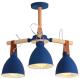 Люстра HIPER H157-0 (голубой/светлое дерево) -