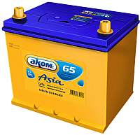 Автомобильный аккумулятор AKOM Asia 6СТ-75VL (75 А/ч) -