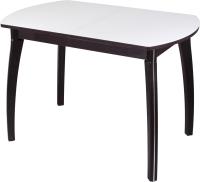 Обеденный стол Домотека Танго ПО-1 80x120-157 (белый/венге/07) -