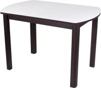 Обеденный стол Домотека Танго ПО-1 80x120-157 (белый/венге/04) -