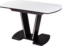 Обеденный стол Домотека Танго ПО-1 80x120-157 (белый/венге/03) -