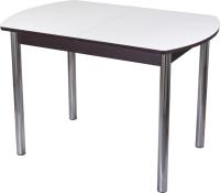 Обеденный стол Домотека Танго ПО-1 80x120-157 (белый/венге/02) -