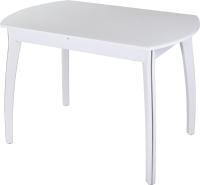 Обеденный стол Домотека Танго ПО-1 80x120-157 (белый/белый/07) -