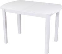 Обеденный стол Домотека Танго ПО-1 80x120-157 (белый/белый/04) -