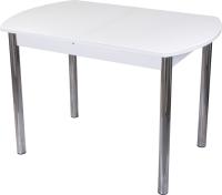 Обеденный стол Домотека Танго ПО-1 80x120-157 (белый/белый/02) -