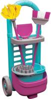 Набор хозяйственный игрушечный Terides Для уборки. В тележке / Т4-146 -
