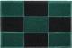 Коврик грязезащитный VORTEX Home 40x60 / 22406 (черный/зеленый) -
