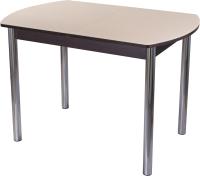 Обеденный стол Домотека Танго ПО-1 80x120-157 (кремовый/венге/02) -