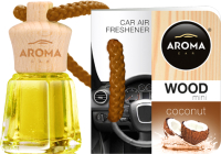 Ароматизатор автомобильный Aroma Car Wood mini / 92710 (кокос) -