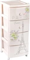 Комод пластиковый Альтернатива Париж / М8158 (светло-бежевый) -