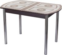 Обеденный стол Домотека Танго ПО-1 80x120-157 (ст-71/венге/02) -