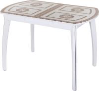 Обеденный стол Домотека Танго ПО-1 80x120-157 (ст-71/белый/07) -