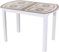 Обеденный стол Домотека Танго ПО-1 80x120-157 (ст-71/белый/04) -