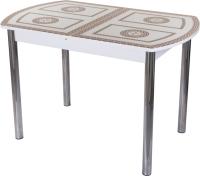 Обеденный стол Домотека Танго ПО-1 80x120-157 (ст-71/белый/02) -