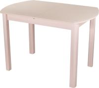 Обеденный стол Домотека Танго ПО-1 80x120-157 (кремовый/молочный дуб/04) -