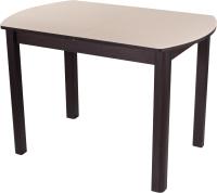 Обеденный стол Домотека Танго ПО-1 80x120-157 (кремовый/венге/04) -