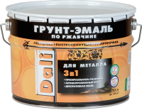 Эмаль DALI По ржавчине 3в1 RAL3011 (10л, красно-коричневый) -