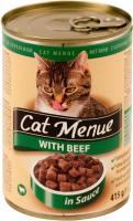 Корм для кошек CAT Menu Консервированный с говядиной (415г) -