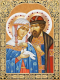 Набор алмазной вышивки Алмазная живопись Икона Петр и Феврония / АЖ-1848 -