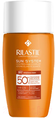 Крем солнцезащитный Rilastil Флюид Sun System PPT SPF 50+ д/чувст. кожи с Pro-DNA Complex (50мл)