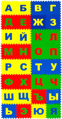 Коврик-пазл Eco Cover Русский Алфавит / 25МПД2/Р