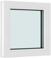 Окно ПВХ Brusbox Глухое 2 стекла (60x550x450) -