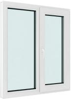 Окно ПВХ Brusbox Elementis Kale Поворотно-откидное с импостом правое 3 стекла (70x1000x1400) -
