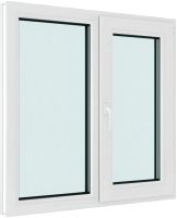 Окно ПВХ Brusbox Elementis Kale Поворотно-откидное с импостом правое 3 стекла (70x1200x1200) -
