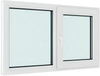 Окно ПВХ Brusbox Elementis Kale Поворотно-откидное с импостом правое 2 стекла (60x1400x1000) -