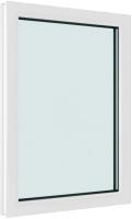 Окно ПВХ Brusbox Глухое 2 стекла (60x900x1200) -
