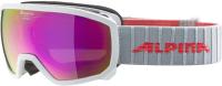Маска горнолыжная Alpina Sports 2020-21 Scarabeo Jr. HM Sph / A72578-12 (белый/розовый) -