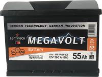 Автомобильный аккумулятор Senfineco Megavolt 1103R/55-L2 (55 А/ч) -