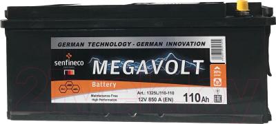 Автомобильный аккумулятор Senfineco Megavolt 1349L/110-120 (110 А/ч)