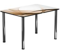 Обеденный стол Васанти Плюс ПРФ 110x70 (хром/111) -