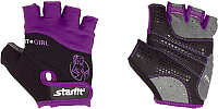 Перчатки для фитнеса Starfit SU-113 (XS, черный/фиолетовый/серый) -