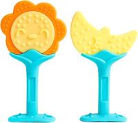 Набор прорезывателей для зубов Пома Солнышко и луна 4+ / 2313 (2шт) -