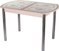 Обеденный стол Домотека Танго ПО-1 80x120-157 (ст-72/молочный дуб/02) -