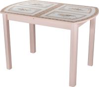 Обеденный стол Домотека Танго ПО-1 80x120-157 (ст-72/молочный дуб/04) -
