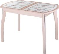 Обеденный стол Домотека Танго ПО-1 80x120-157 (ст-72/молочный дуб/07) -