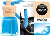 Ароматизатор автомобильный Aroma Car Wood mini / 63109 (океан) -