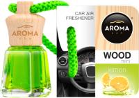 Ароматизатор автомобильный Aroma Car Wood Mini / 63108 (лимон) -