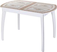 Обеденный стол Домотека Танго ПО-1 80x120-157 (ст-72/белый/07) -